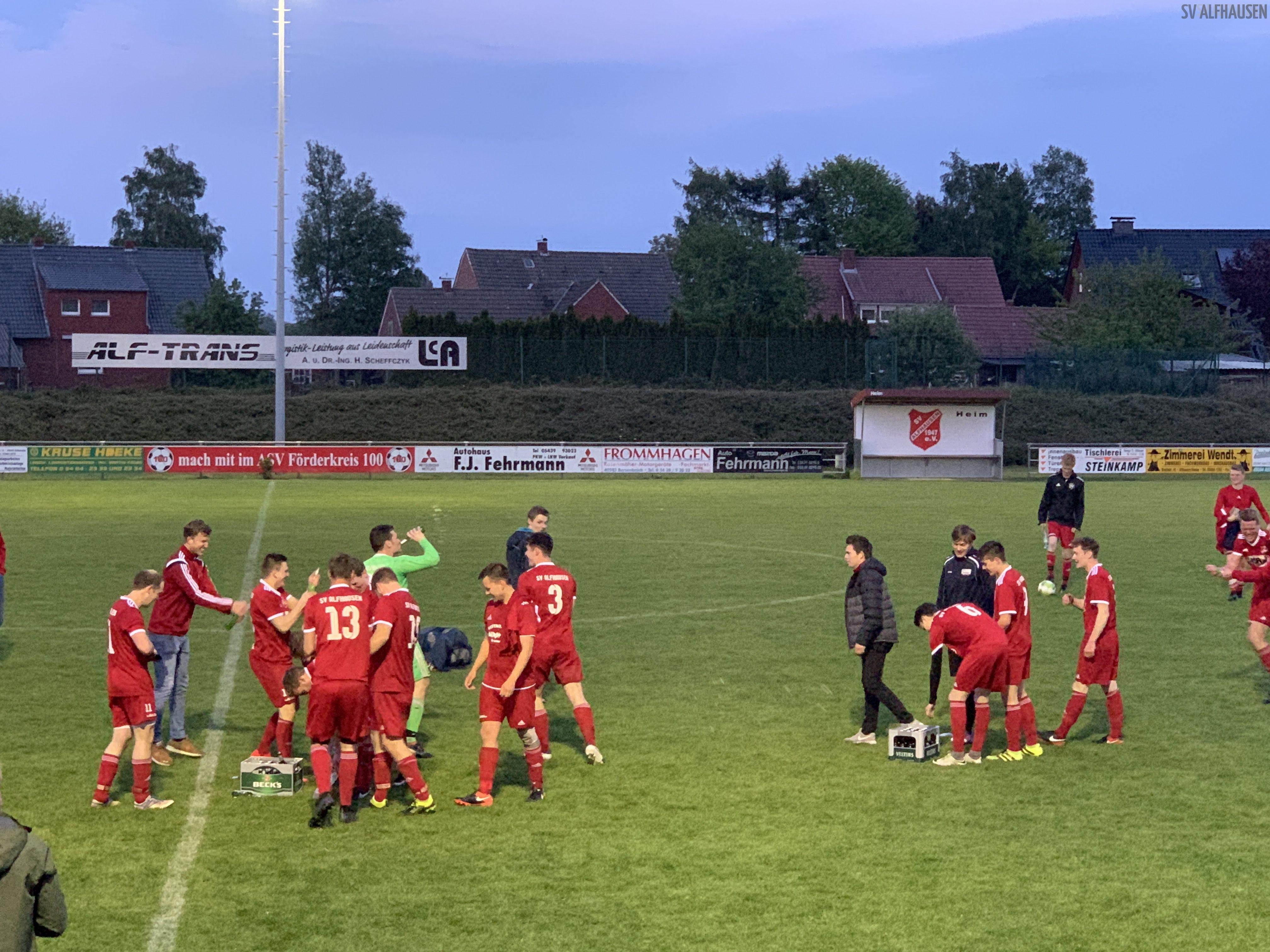 SV Alfhausen Feier I. Herren