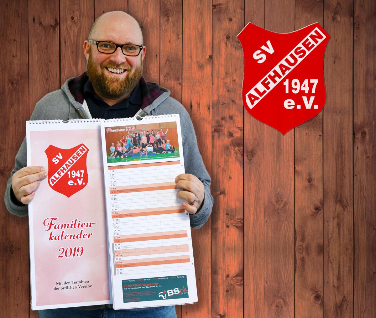 Jetzt erhältlich – der ASV Familienkalender